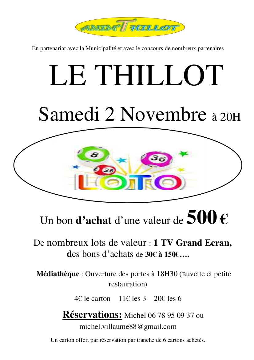 affiche loto 2019 AT